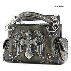 Western Wing Cross Purse ($35) ❤ liked on Polyvore featuring bags, handbags, western cross purse, cowboy purses, cross purse, western bags and western purses