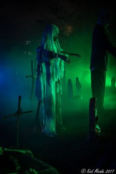 To share, learn, and celebrate all things Halloween. Haunted Trail Ideas, Haunted Maze, Haunted Woods, Haunted House Props, Haunted Prison, Haunted Houses, Halloween 2017, Halloween Art, Halloween Witches