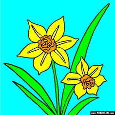 free flowers coloring pages color in this picture of a narcissus or daffodil and others with our library of online coloring pages