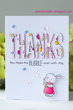 In this post I give simple tips how to add fancy dimensional die cuts to a card with Bubble over with Joy stamps set from My Favorite Things Mft Stamps, Card Making Tutorials, Clear Stamps, Colouring, Handmade Cards, Favorite Things, Bubbles, Fancy, Cleaning