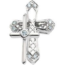 Round Diamond Unity Cross in Solid 14 Karat White Gold - All Patron Saints Unity Cross, Cross Necklaces, Diamond Cross, Patron Saints, Cross Pendant, Crosses, Round Diamonds, Fine Jewelry, Fashion Jewelry