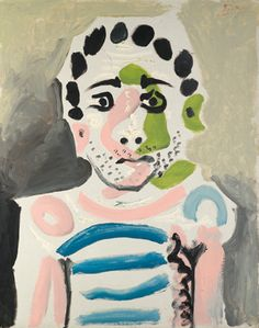 """primary-yellow: """"PABLO PICASSO BUSTE D'HOMME, 1965 """""""