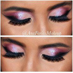 Muito amor por esses olhos ❤️ #anafariasmakeup #maquiagem #makeup #universodamaquiagem_oficia #pausasparafeminices #delineadografico #glitter #nathcapelo #instamakeup #maquiagembrasil | SnapWidget