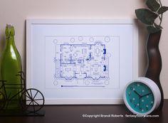 Fantasy Floorplan™ for Revenge/Residence of Emily Thorne - 1st Floor