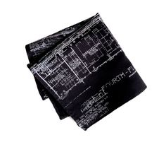 Blueprint pocket square. Architectural print hanky. by Cyberoptix