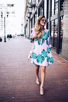 Palm Leaves dress - Karina Style Diaries