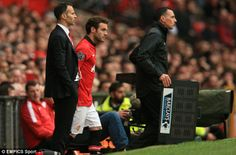 Caretaker manager Ryan Giggs with Juan Mata