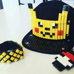 Bricky Blocks Blue Snapback Hat Kids Adults By Elope Lego Hat, Black Snapback Hats, Custom Lego, Kids Hats, Pikachu, Pokemon, Baseball Hats, Costumes, Creative
