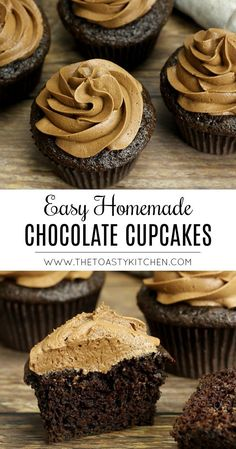 Easy Homemade Chocolate Cupcakes by The Toasty Kitchen