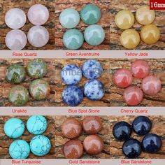 Natural Gemstone 16mm Round Cabochons Bulk Supplies, Sold by 4 Pieces (HX189)