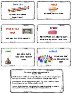 """Free printable labels to make a """"Back to school"""" survival kit. So Cute for Mom's! And teacher's could just pick one or two to hand out in class if the whole kit was too much. Love this."""
