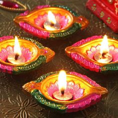 Fairy Garden Furniture, Diwali Gifts, T Lights, Festival Lights, Online Gifts, Clay, Morning Flowers, Candles, Terracotta