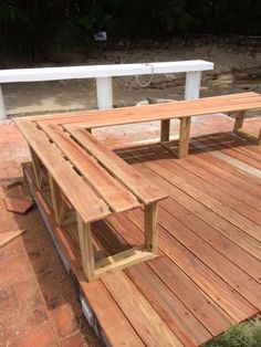 Outdoor L bench Pergola Vs Patio Cover Product - Pergola Ideas Deck With Pergola, Covered Pergola, Pergola Patio, Pergola Plans, Pergola Kits, Backyard, Modern Pergola, Deck Plans, Small Pergola