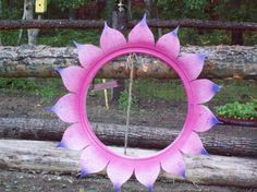 Tire Art Projects | Yard projects with Old Tires, old tire projects, cut off from tire ...