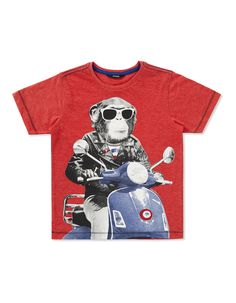 Mod Monkey Graphic T-shirt | Boys | George at ASDA