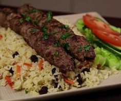 How to Cook Afghan Style Lamb Kofta Kebabs: There a lot of different versions of kebabs from Afghan to Iran and Turkey.There one is an Afghan style. Afghan Food Recipes, Lamb Kabobs Recipe, Lamb Kebabs, Kabob Recipes, Duck Recipes, Recipies, African Recipes, Indian Food Recipes, Cooking