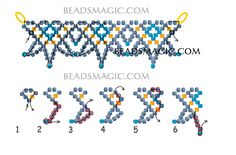 Free pattern for beaded necklace Celestial U need: seed beads 11/0 2 cut seed beads