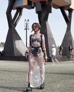 A round-up of our favourite blogger/influencer looks from 2017's Coachella festival, from sheer styles to the traditional peasant tops, florals and denim.