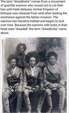 "The origin of the term ""dreadlocks"":"