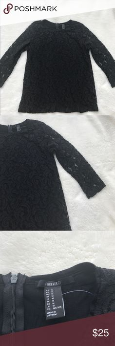 🌸NWT Forever21 Women's Lace Top Forever21 Women's Lace Top (half sleeve). Size M. Forever 21 Tops