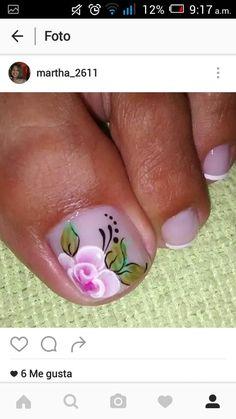 Toe Nail Art, Toe Nails, Pedicures, Ant, Nail Designs, Floral, Beauty, Nail Hacks, Mariana