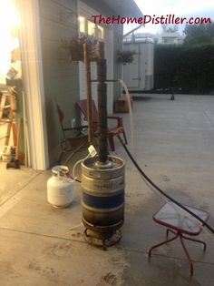 Home made, DIY, moonshine still - Another keg setup with a stereo condenser
