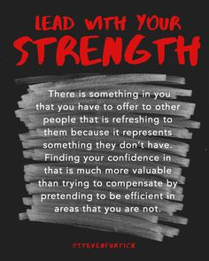 Lead with your strength - Leadership Tips from Pastor Steven Furtick