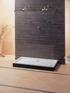 Futurion Shower Tray from Villeroy & Boch - UK Home Ideas Uk Homes, Safety Glass, Shower Enclosure, Cubicle, Walk In Shower, Sliding Doors, Modern Bathroom, Tiles, Tray