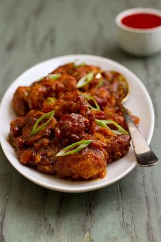 Gobi (Cauliflower) Manchurian.  One of the most addictive dishes at the Indian buffet. This recipe looks super good.