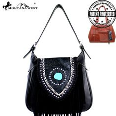 MW370G-916 Montana West Fringe Collection Concealed Handgun Hobo -Black #western #momtanawest #west #handbaloverusa #rustic #rusty #country #purse #countrygirl #cattle #american #cowgirl #texas #texan #USA #cowgirl #cattle #countryside #countrylife #gun #guncarry #aztec