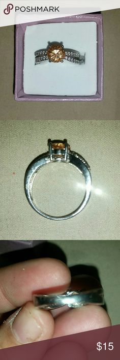 Morganite sterling silver size 8 Got this online and is to big.... Jewelry Rings