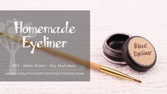 Avoid putting toxins near your eyes with this natural homemade eyeliner. Homemade eyeliner goes on smoothly and helps enhance your eyes! Best Eyeliner, How To Apply Eyeliner, Black Eyeliner, Perfect Eyeliner, Eyeliner Online, Eyeliner Waterline, Eyeliner Ideas, Eyeliner Pencil, Eyeliner Brush