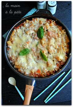 Pâtes au boeuf haché cuites à la façon d'un one pot pasta