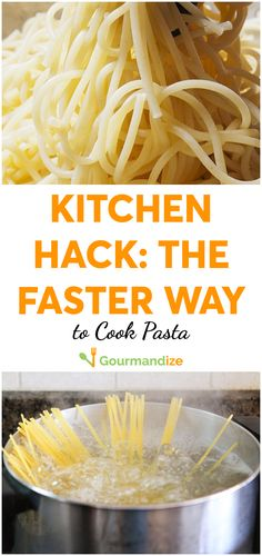 Ditch the pot and the strainer. This technique will cook your pasta in a mere fraction of the time.  #kitchenhacks #pastahacks #howtocookpastafaster #cookinghowtos #foodhacks #cookingtips #cookinghacks #pasta #pastatips