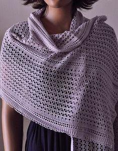 Panda Silk Weekender Lace Wrap Stole - free lace stole knitting pattern - Crystal Palace Yarns