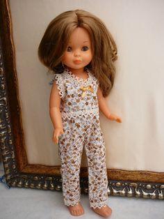 Pijama en algodón estampado y puntillas de hilo  15 euros