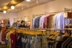 Along with the racks of carefully colour coded new and vintage wearables, Bungalow also specializes in accessories, housewares, and furniture.  #Torotno #PhotoEssay #DiscoverToronto #Retro #Store #Clothing #secondhand #canada #unique #original #stylish #style