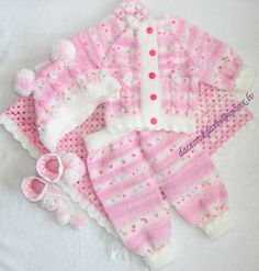 Newborn Set Crocheted blanket knitted cardigan knitted by Dachuks