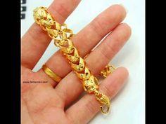 Men's New Fashion Gold Jewelry Ring Bracelet.