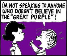 We're with you, Linus! If it's purple, we're loving it!!
