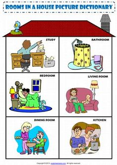 English Vocabulary - rooms in a house - Inglés