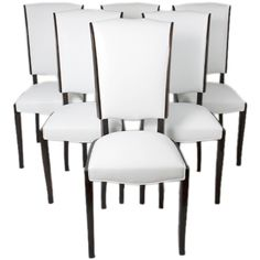 1stdibs   Set of Six French Art Deco Dining Chairs