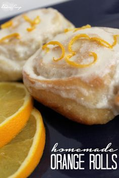 Homemade Orange Rolls Recipe! Plus the best cream cheese icing you need to try!