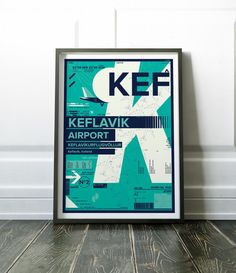 Modern Iceland print. Colourful Keflavik Airport poster. Lots more airport prints are available in my store. Most of my prints are now available for you to print at home in my other shop here: www.etsy.com/uk/shop/NordicDesignHouseCo MY PRINTS Prints are produced on a professional Canon printer using Canon dye based inks and a 6 colour system to ensure vivid and rich coloured prints every time. Actual colours may vary slightly as each monitor displays colours differently. Please note that...