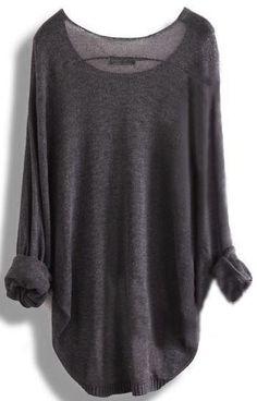 Pretty sweater...love the charcoal color. Parris Chic Boutique