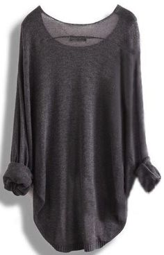 Pretty sweater...love the charcoal color. Parris Chic Boutique. With jeans and some Chelsea boots. #winterfashion