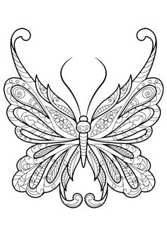 Adult Butterfly Coloring Book. Coloring books for grown ups like this one are a path to mindfulness. Engage yourself in hours of peaceful color therapy with gorgeous butterfly coloring pages for adults, including mandalas
