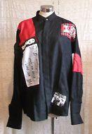 PUNK /ROCK bespoke ORIGINAL Pierre Cardin black SHIRT.Large with patches,