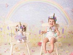 Selah MiAlma | Unicorn Cake Smash | Susan Garrett Photography | Rowlett Texas
