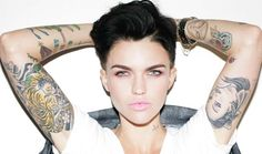 Actress Ruby Rose Condemns Kanye West's Misogyny. Actress Ruby Rose Condemns Kanye West's Misogyny Ruby Rose Tattoo, Orange Is The New Black, Black Ruby, Andy Black, Ruby Rose Tatuagem, Hippe Tattoos, Ruby Rose Hair, Rubin Rose, Rosen Tattoos